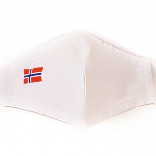 Munnbind-hvit-norsk-flagg